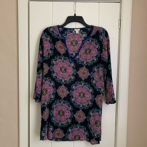 jcrew (factory i think?) purple floral tunic